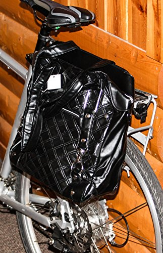 FASTRIDER SHOPPER QUILTS Black Bike Pannier/Bag 16.5L PVC Water - Shopper Quilt