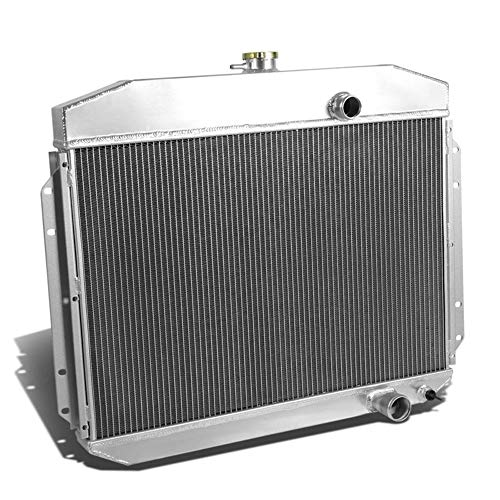 OzCoolingParts 61-64 Ford F-Series Radiator, 2 Row Core Aluminum Radiator for 1961-1964 Ford F-100 F-250 F-350 Pickup Truck, L6 V8 ()