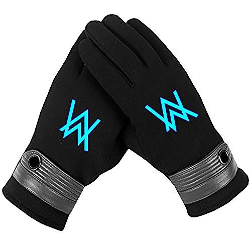 Alan Walker Gloves Painted Letter Cosplay Costume Accessory Prop Warm
