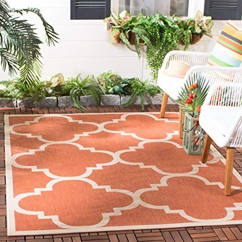 (Safavieh Courtyard Collection CY6243-241 Terracotta Indoor/ Outdoor Area Rug (9' x 12'))