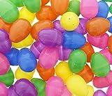Plastic Refillable Easter Eggs Assortment - Bright & Colorful - Bulk Set - ...