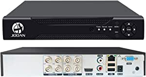 JOOAN 8CH 1080P DVR Security Video Recorder P2P Service Mobile Remote Monitoring 8 Channel DVR Smartphone&PC Easy Remote Access 5 in 1 Multi-Function Digital Video Recorder