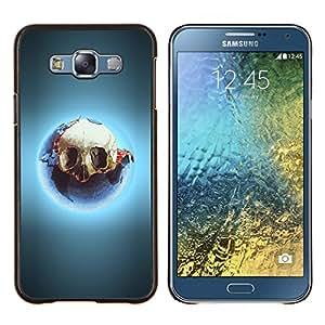 """Be-Star Único Patrón Plástico Duro Fundas Cover Cubre Hard Case Cover Para Samsung Galaxy E7 / SM-E700 ( Enfriar Glow Skull"""" )"""