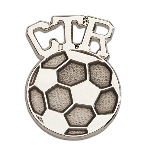 (Cherished Moments LDS Baptism CTR Soccer Tie Tac Choose The Right in Silver Tone)