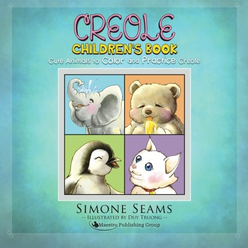Creole Children's Book  Cute Animals To Color And Practice Creole