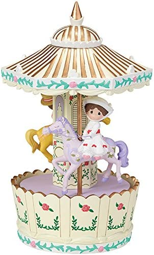 Precious Moments Disney Mary Poppins Make Every Day a Jolly Holiday Carousel Rotating Musical Box