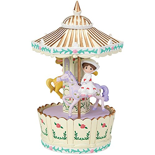 Precious Moments Disney Mary Poppins Make Every Day a Jolly Holiday Carousel Rotating Musical Box (Rotating Musical Figurine)