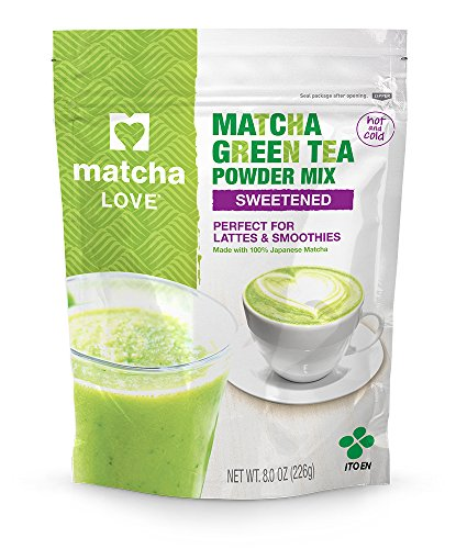 Matcha Love Green Tea Sweetened Powder 8 Ounce Packet (Pack of 1) Sweetened Green Tea Powder Antioxidant Rich High in Vitamin C Japanese Matcha Powder Mix