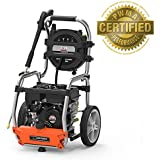 YardForce 3200 PSI 2.5 GPM Gas Power Pressure Washer with Hose Reel and BONUS Turbo Nozzle