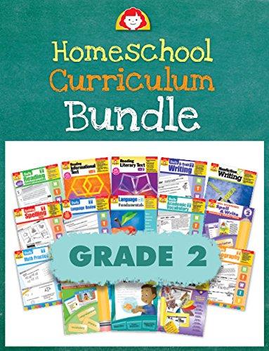 (Evan-Moor Homeschool Teaching Resource Curriculum Bundle, Grade 2 Complete Set - 18 Supplemental Workbooks - includes Reading, Writing, Vocabulary, ... Arts, Math, Science, and Social Studies)