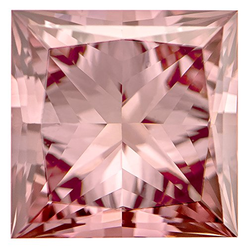 1.04 Ct.   Princess   Bubble Gum Pink Color   VVS2 Clarity   U.S. Man Made -