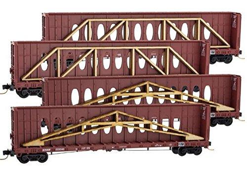Micro Trains N BNSF CB Flat Runner 4-Pack