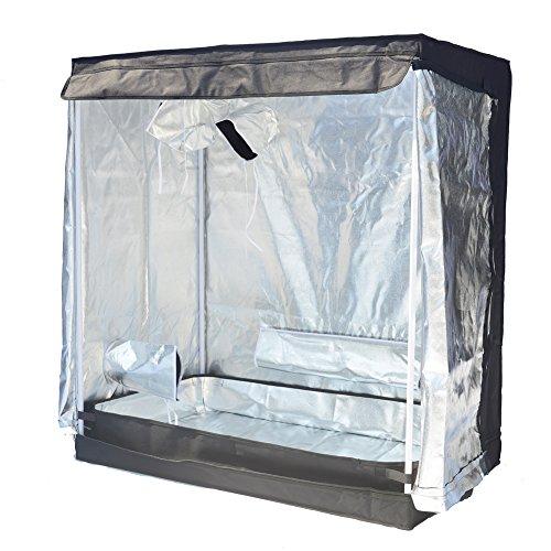 """514HNvk6wkL - Smart Indoor Grow Tent 43""""x25""""x48"""" 600D Heavy Duty High Mylar Waterproof Grow Room for Indoor Plant Growing 4'x4'"""