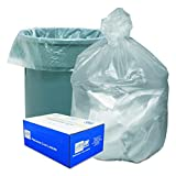 Good 'n Tuff GNT4348 High Density Waste Can Liners, 56 Gallon, 14 Microns, 43w x 46h, Natural, Roll of 20 Bags (Case of 10 Rolls)