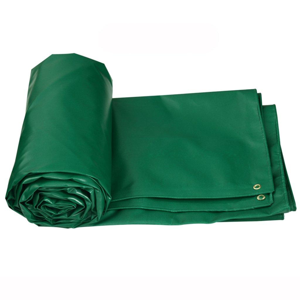 厚い防水性の雨日焼け止めの防水シートのタパフリントラックのファジー布の防水シートPVC (色 : Green, サイズ さいず : 6 * 5m) B07FM89TRJ 6*5m|Green Green 6*5m
