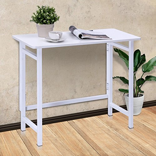 Folding Table Computer Desk PC Laptop Writing Table Home Office Workstation by Apontus