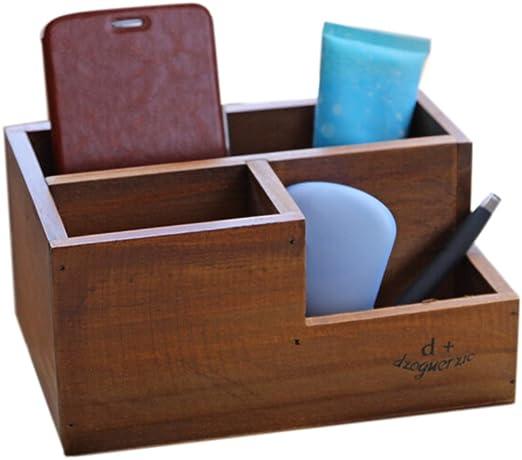 Kentop Organizador de Escritorio Caja de Almacenamiento de Mesa con 9 Compartimentos Organizador de Oficina