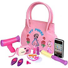 [Patrocinado] Skyweeb My First Purse – 11 PCs Pretend Play Purse Set for Girls, Hand made Purse Toddlers and Preschoolers (Pink 1)