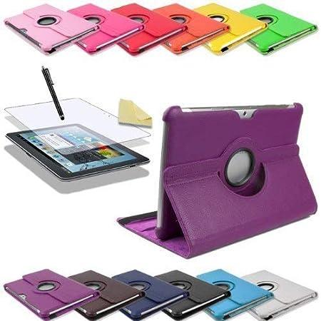 3in1 SET 360/° Edle Schutztasche f/ür Samsung Galaxy Tab 2 10.1 P5100 P5110 Folie Rot Pen Tasche Etui H/ülle