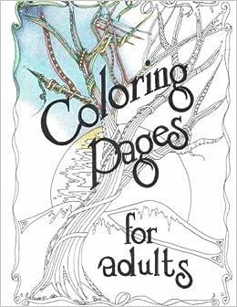 Book Adult Coloring Book, Trees: Artist Drawn Original Artwork