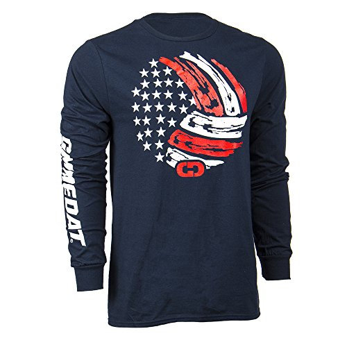 GIMMEDAT USA Volleyball Long Sleeve Shirt Player Gift (Medium) Navy Blue