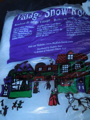 Christmas Village Buffalo Snow Roll 15 Inches X 84 Inches apx 8 oz.]()