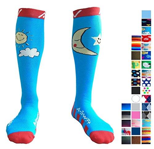 Compression Socks for Women & Men - Rise & Shine, (Shoe Shine Equipment)