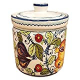 CERAMICHE D'ARTE PARRINI- Italian Ceramic Cookies Jar Holder Vessel Container Hand Painted Made in ITALY Tuscan Art Pottery