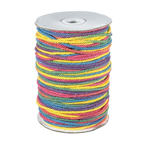 Rainbow Cotton Rope (West Coast Paracord Rainbow Dye Cord Cotton Rope – 5mm/50m or 3mm/100m Options)
