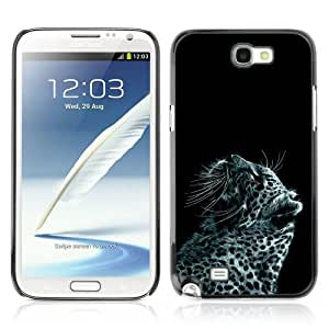 YOYOSHOP [Cool Snow Leopard Painting] Samsung Galaxy Note 2 Case