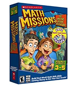 Math Missions Grades 3-5 With Free Math Card Game