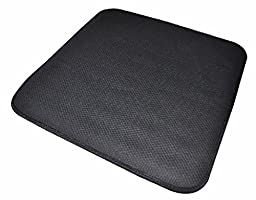 Secure CGSC-2 Comfort Gel Foam Chair Seat Cushion, Black (16\