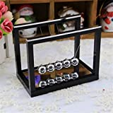 FidgetFidget Cradle Newton with Mirror Metal Pendulum Balls Swing Ball Fun Teaching Toys