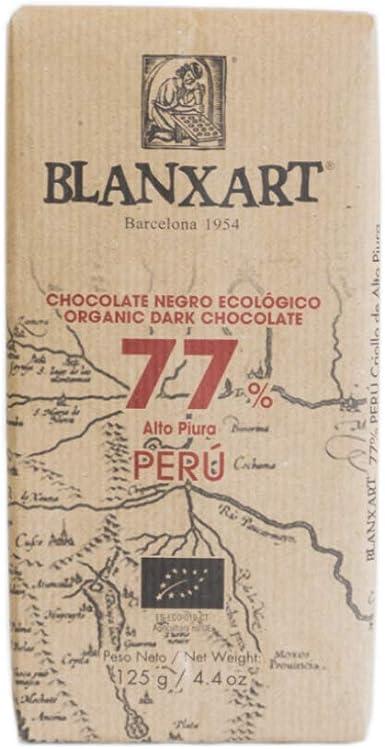 Blanxart Tableta de Chocolate Negro Ecológico- Perú 77% Cacao 1 Unidad 125 g: Amazon.es: Alimentación y bebidas