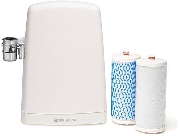 Filtro de agua de sobremesa Aquasana AQ4000 - Purificador de agua doméstico, sistema patentado, elimina cloro y otros contaminantes del agua: Amazon.es: Hogar