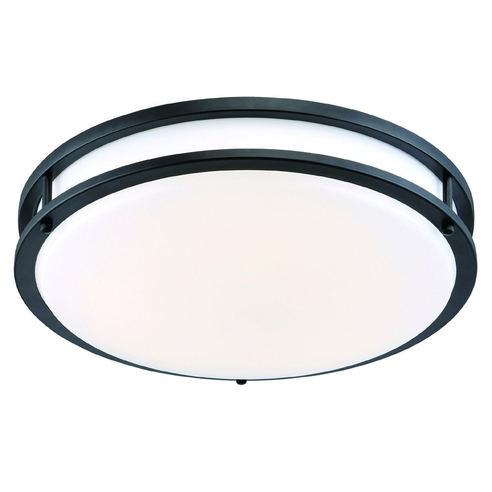 Designers Fountain EV1416L30-34 Low-Profile LED Ceiling Light16''Oil Rubbed Bronze/White