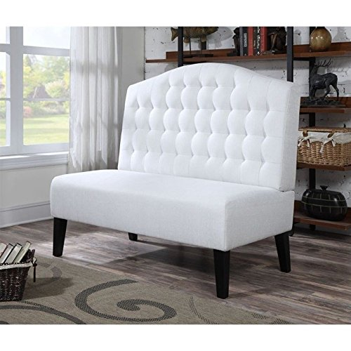 Pulaski Audrey Settee, Ivory (Settee Leather Bench)