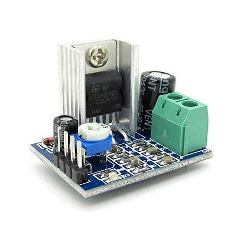 - 2pcs 6~12V Single Power Supply 18W TDA2030A Amplifier Audio Amplifier Module for DIY