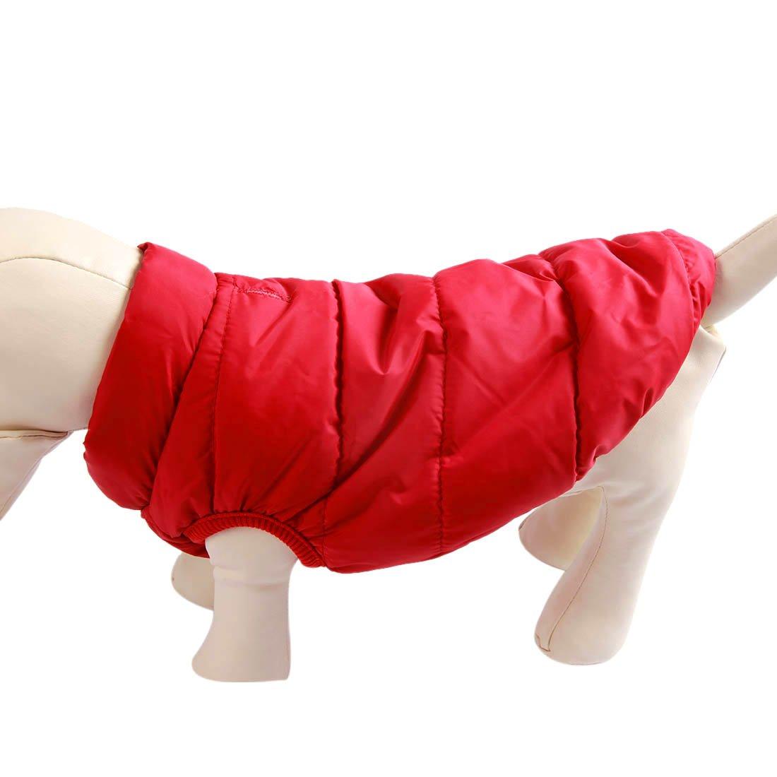 sehr warm f/ür Winter und kaltes Wetter winddichte Hundeweste extraweiche JoyDaog 2-lagige mit Fleece gef/ütterte Hundejacke rot