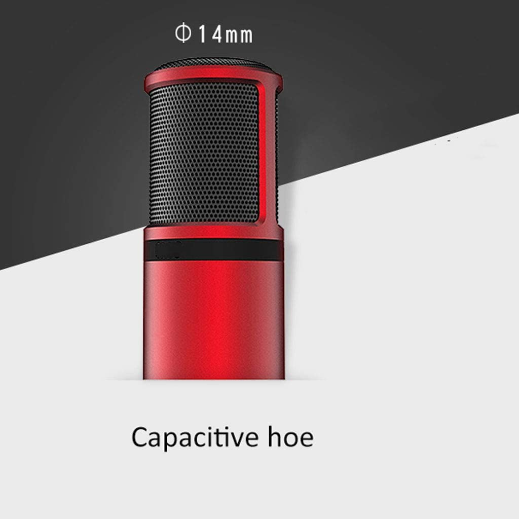 Xiaokeai Portable Condenser Microphone Color : Champagne Gold Microphone Mobile Phone K Song Home Sing Fast Hand Sound Card Set Live Device Microphone Speakers