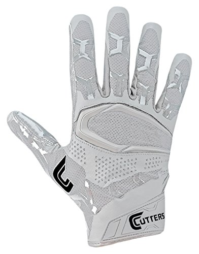 Cutters S541 Rev Pro 3D 2.0 Receiver, Safety, Cornerback Football Gloves with Ultra Sticky C-Tack Grip, Adult (Cutter Grip)