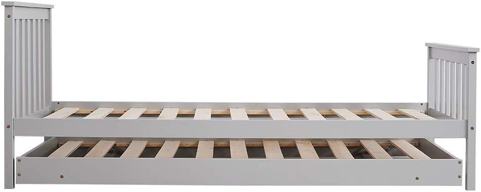 chuck & blair Camas de madera de pino marcos ahorro espacio ...