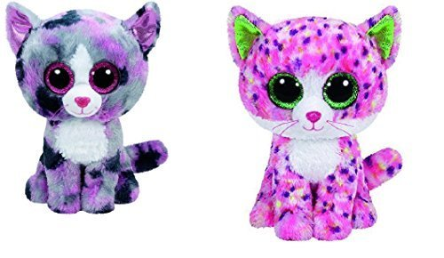 Ty Lindi And Sophie Cats Set Of 2 Beanie Boos Stuffed Animal Plush Toy