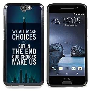 /Skull Market/ - Choices Inspiring Motivational Poster For HTC ONE A9 - Mano cubierta de la caja pintada de encargo de lujo -