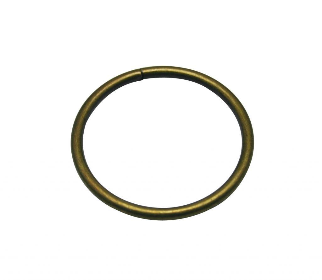 Generic Metal Bronze Annular Ring Buckle 2 Inside Diameter Loop Ring for Strap Keeper Pack of 6 Tianbang