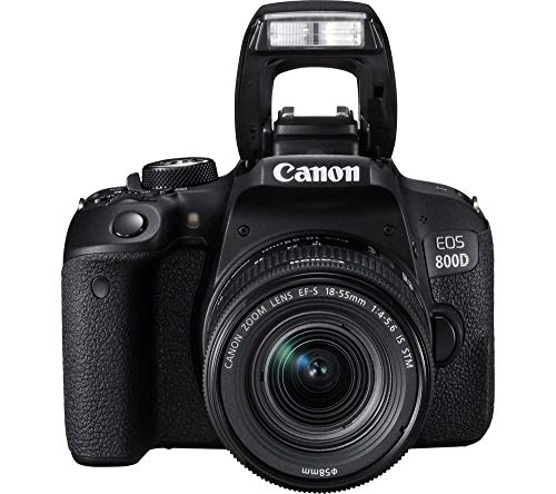 Canon EOS 800D (Rebel T7i) EF-S 18-55 mm f/4-5.6 is STM Lens Kit + Includes Free SanDisk Ultra 64GB SDXC Memory Card…
