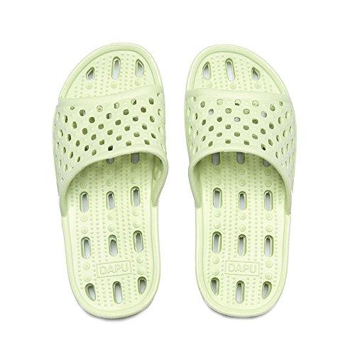 donne acqua bagno spesso slittamento anti matura cool pantofole fast chiaro esposto scarpe dry di Verde trascinando fankou Perdite trascinare e uomini e qw0x6EqT