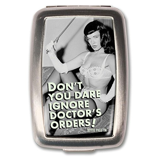 Bettie Page Doctor's Orders Pill Box Medication Vitamin ()