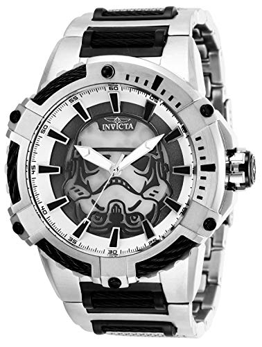Men's 'Star Wars' Automatic Stainless Steel Watch, Color:Black (Model: ) - Invicta 27117