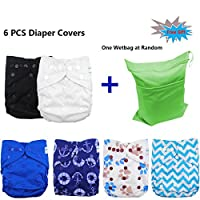 Babygoal Baby Adjustable Reuseable Covers, Baby gift sets , Cloth Diaper Cove...
